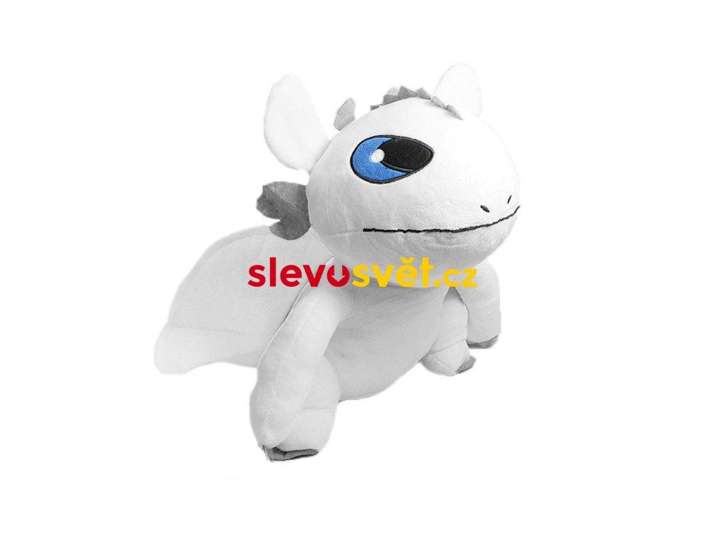 Velký sedící plyšový drak Bílá Běska 40 cm - Jak vycvičit draka 3