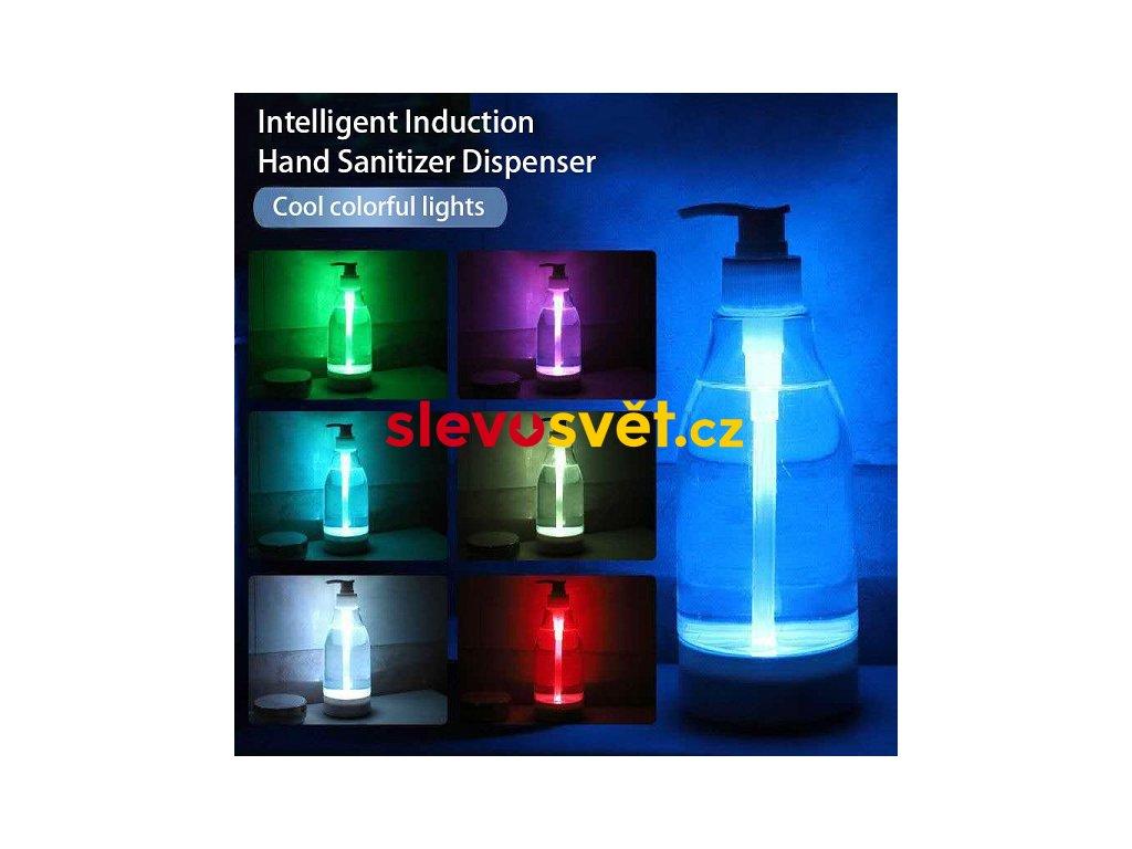 LED dávkovač mýdla s pohybovým senzorem - 7 barev