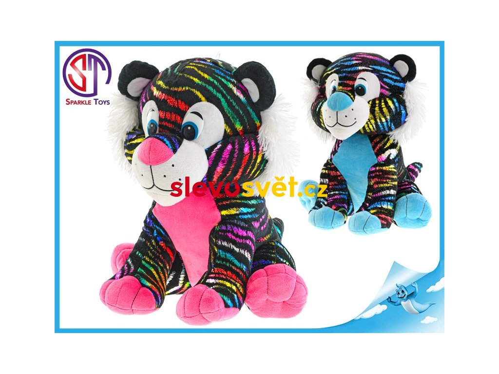Tygr plyšový 40 cm Star Sparkle sedící