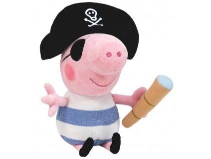 Prasátko Peppa plyšový Tom pirát 25cm