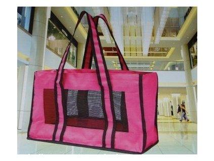 Přenosná taška pro psa - růžová