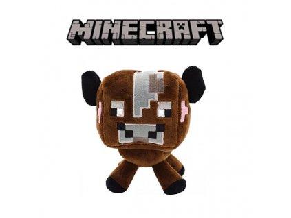 Plyšová hnědá kravička ze hry Minecraft - 23 cm