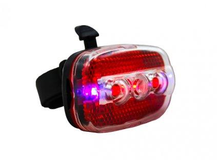 LED červená zadní svítilna + 2 modré