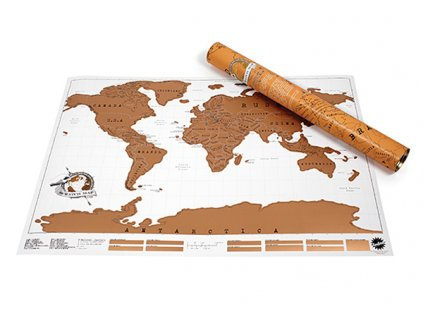 Stírací mapa - světa Deluxe