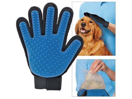 True Touch Vyčesávací rukavice na srst pro psy a kočky