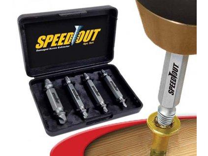 Speed Out - vytahovač stržených šroubů a vrutů - sada 4 velikos