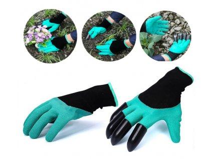 Zahradnické rukavice s drápy - Garden Genie