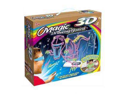 Magická světelná kreslící 3D tabulka