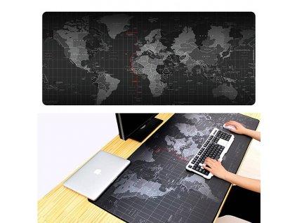 Podložka pod myš XXL Mapa světa 90x40cm