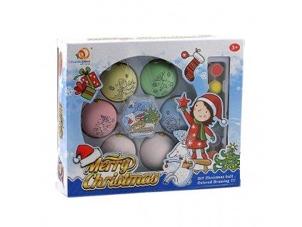 Sada vánočních ozdob - baňky pro malování