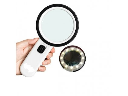 Lupa se světlem LED Duble Lens
