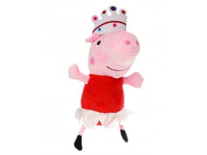 Prasátko Peppa princezna přívěsek Pepina plyšová hračka 15 cm