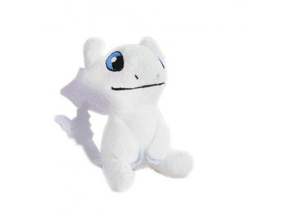 Light Fury plyšový drak 12 cm Bílá Běska sedící přívěšek