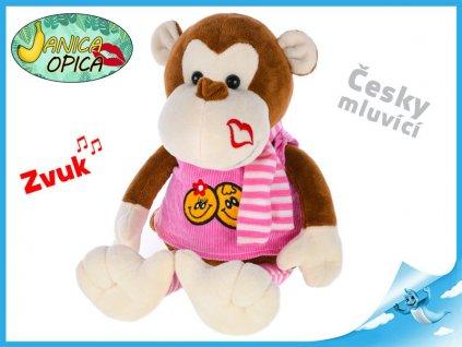 Opica Janica plyšová 25cm mluví česky