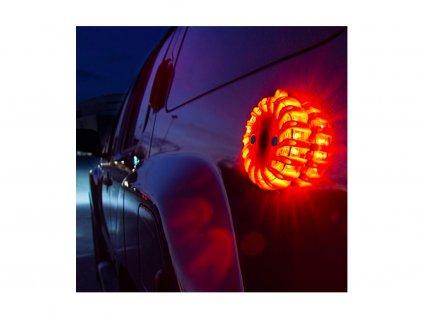 LED výstražné varovné světlo 12+3