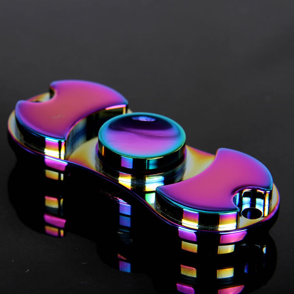New-Colorful-Creative-Metal-Two-Spinner-Fidget-Toy-Metal-EDC-Hand-Spinner-For-Autism-Rotation-Time (1)
