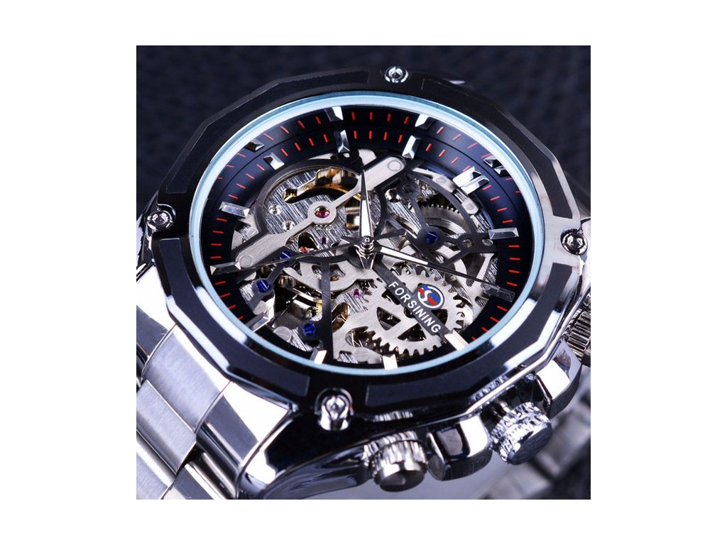 Forsining Mechanical Steampunk Design Fashion Business Dress Men Watch Top  Brand Luxury Stainless Steel Automatic Skeleton a7387103613