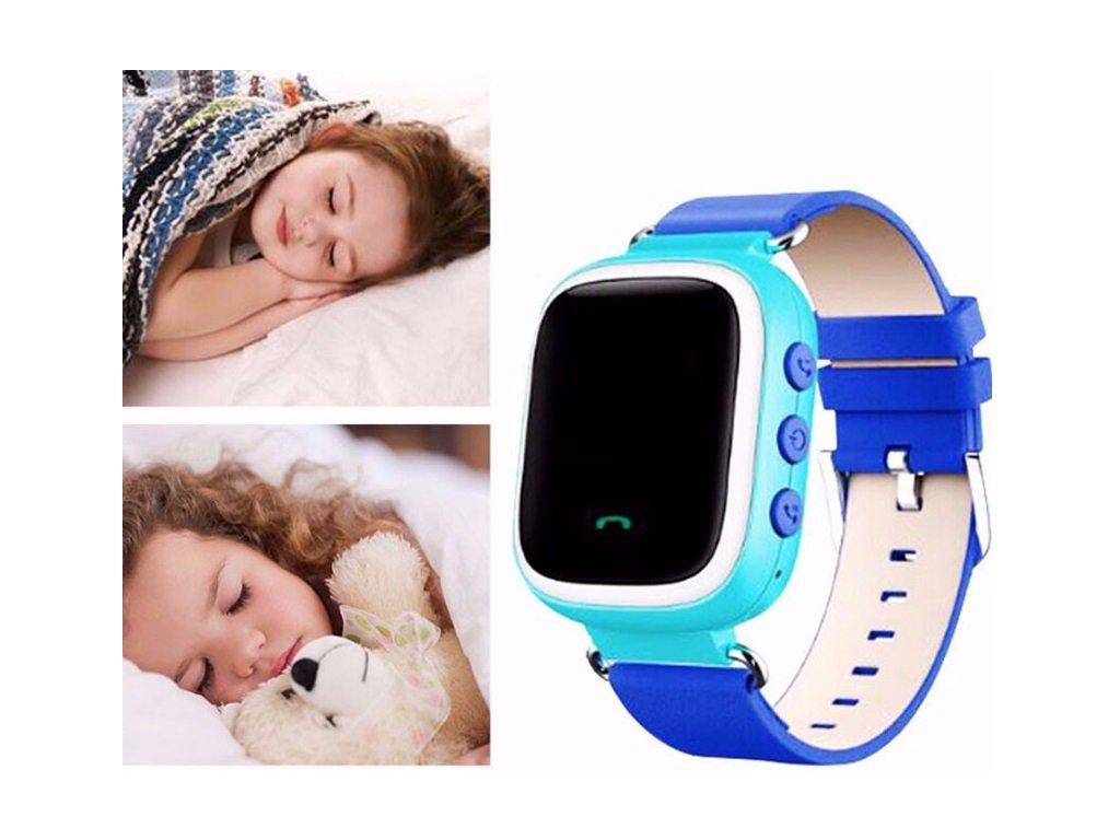 ... Dětské hodinky s GPS lokátorem + možnost volání a SOS - Modrá ... 40607faf38c