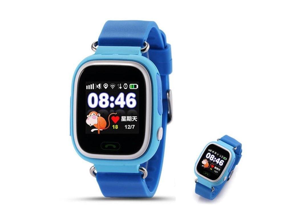 30cb3be86c05 Dětské chytré hodinky s SOS a GPS - Modrá - Slevovyobchod.cz