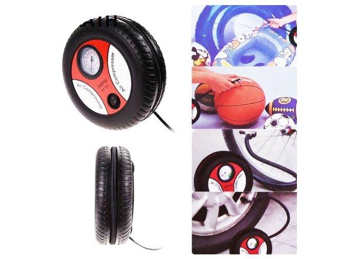 Portable Electric Air Compressor Pump Car Tire Inflator 12V 3