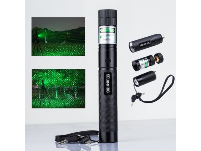 High Quality Promotion 303 Laser Pointer 5000mW Power Green Laser Pointer Pen Lazer Battery 18650 Burning