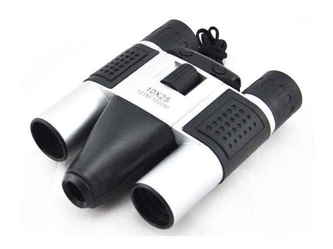 Dalekohled špionážní se skrytou 5mpx kamerou 10x25