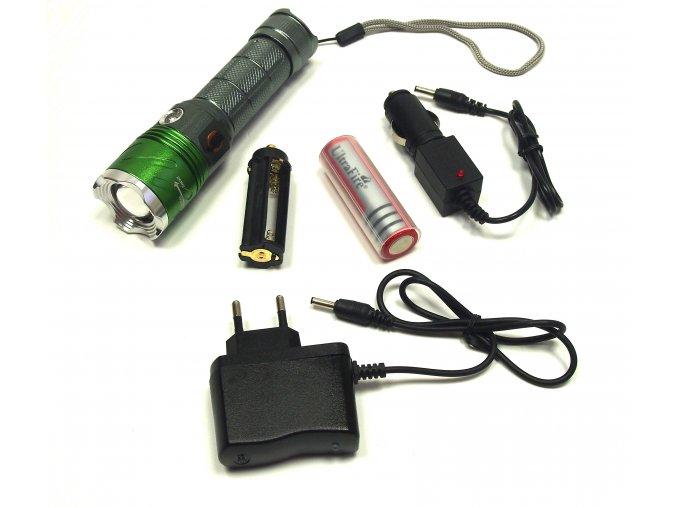 Nabíjecí UV/LED Baterka s nabíječkou do auta, adaptérem (kontrola bankovek)