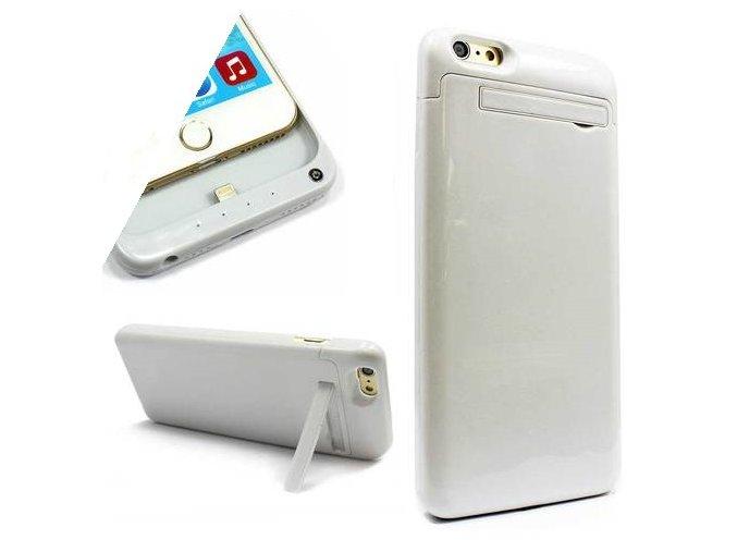 PowerBank iPhone 6 Plus (externí baterie) 5000 mAh BÍLÁ + POUZDRO