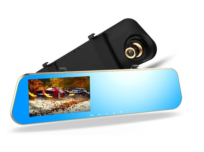 SmallAntTeach Full HD 1080P Car Dvrs Rear View Mirror With Dual Lens Camera Night Vision Dash.jpg 640x640