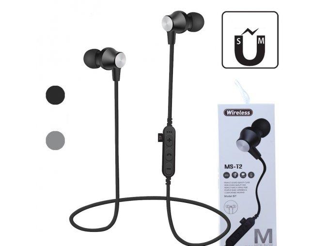 ms t2 magnetic bluetooth sport earphone wireless