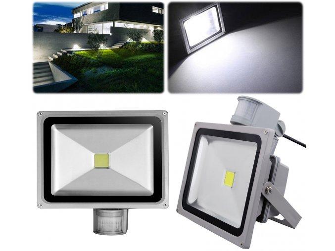 LED Floodlight PIR Sensor 20 30 50W Security Garden Wall