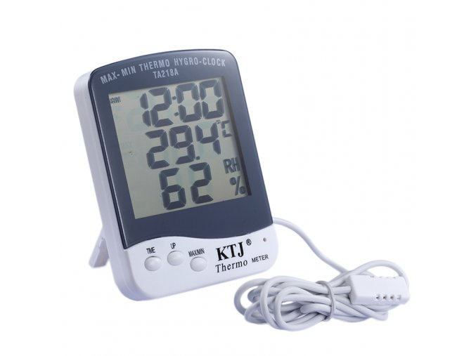 Indoor outdoor In Out thermometer hygrometer digital temperature meter MAX MIN THERMO HYGRO Clock TA218A With
