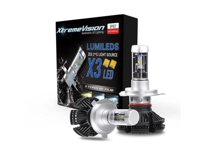 Sada dvou výkonných LED žárovek H7, 2x 50W LED H7-2x 50W