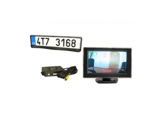 couvaci alarm s kamerou a monitorem ve zpetnem zrcatku
