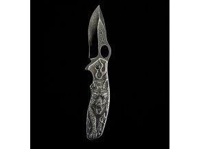 Zavírací zdobený celokovový nůž Wolf 21cm