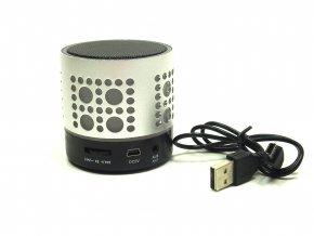 Kapesní, svítící reproduktor s bluetooth (VSTUPY - USB, Micro SD / Micro, Jack 3,5 mm)  Stylový kapesní reproduktor