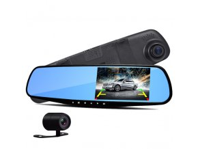 Dual Camera Car Rearview Mirror Novatek 96220 Dash Cam HD 1080P 4 3 screen Rear view.jpg 640x640