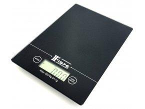 Skleněná, digitální kuchyňská váha - Černá