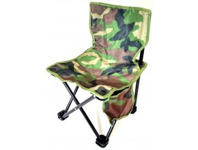 Rybářská - kempingová, maskáčová skládací židle