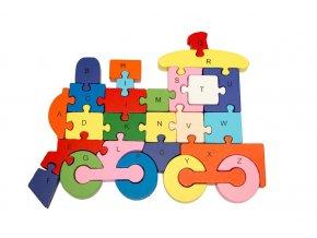 vzdelavaci drevene puzzle masinka i18266