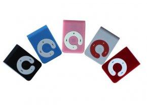 Mini MP3 přehrávač s klipem na microSD karty