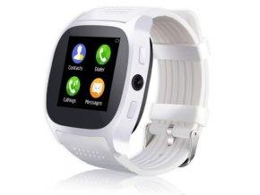 Chytré hodinky smartwatch T8 - Bílá