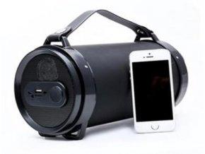 Bezdrátový bluetooth reproduktor, FM rádio a přehrávač MP3, slot pro SD kartu a USB