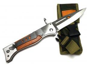 Vystřelovací nůž AK-47 s dřevěným obložením 27 cm