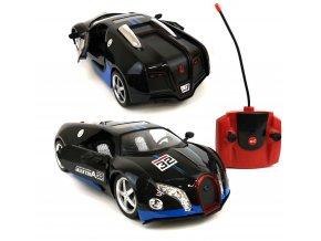 Nabíjecí auto na dálkové ovládání RC Bugatti 32 cm - Černá