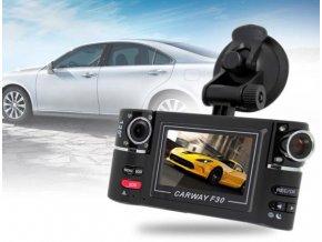 Duální kamera do auta, dvě otočné kamery o 180° s FullHD rozlišením, G-senzor a detekce pohybu  CAR CAM F30
