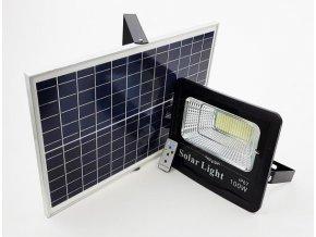 Venkovní LED reflektor 100W se solárním panelem a dálkovým ovladačem  LED FLOOD 100W SOLAR