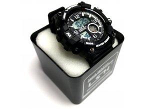 Multifunkční, digitální, voděodolné, hodinky Sport - Černá