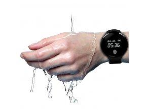 Kulaté smart watch sportovní hodinky - černá