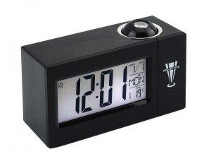 Inteligentní LED hodiny - černá